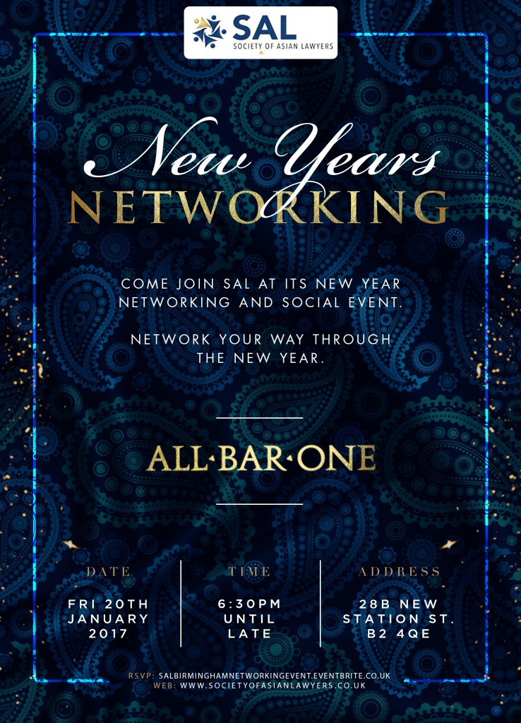 Sal New Years Networking flyer
